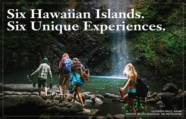 Six Hawaiian Islands. Six Unique Experiences.