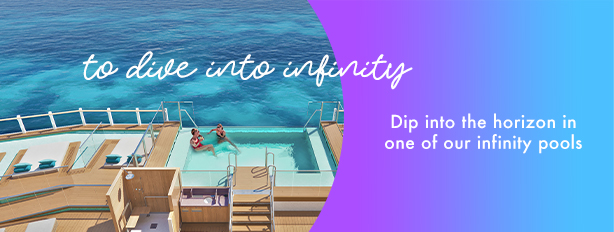 to dive into inifinity   Dip into the horizon in one of our infinity pools.