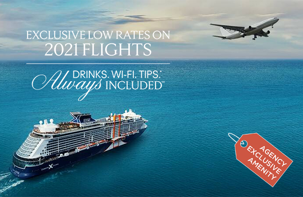 Celebrity Cruises - Exclusive Low Rates on Flights