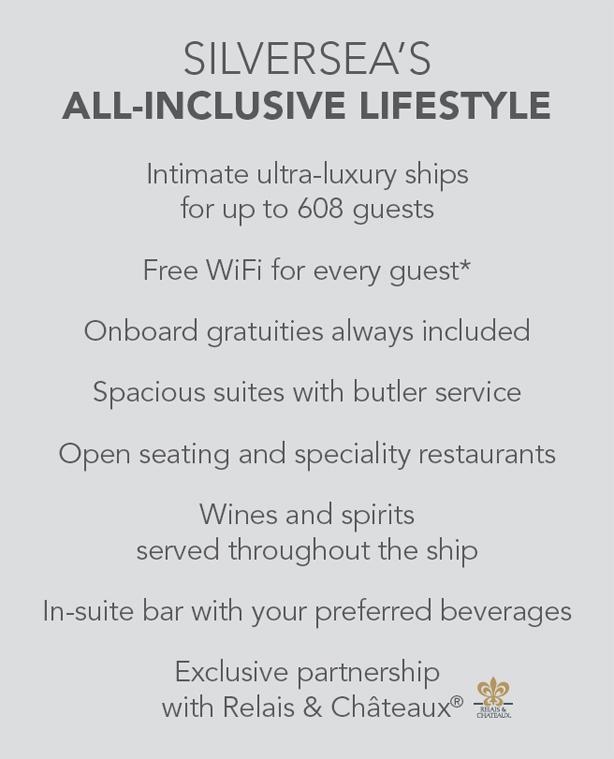 Silversea's All-Inclusive Lifestyle