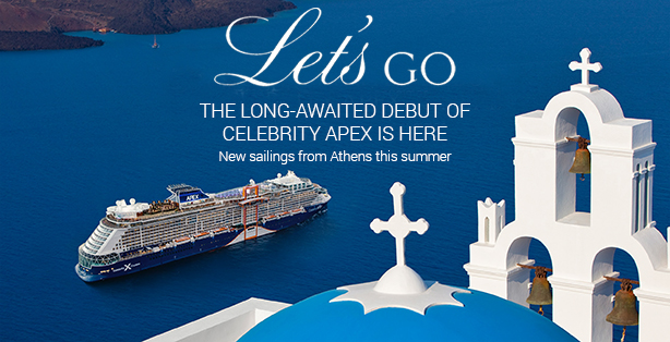 Cruise Greece this summer on Celebrity Apex