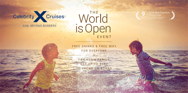 Celebrity Cruises - The World is Open Event