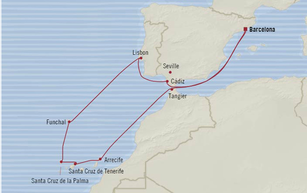 Explore the Canary Islands and sail roundtrip Barcelona!