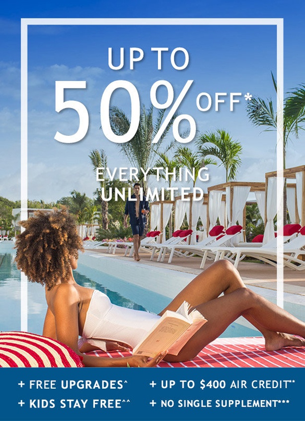 Up to 50% Off Everything Unlimited at Club Med!