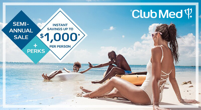 Save up to $1,000pp + Get Free Perks During Club Med's Semi-Annual Sale