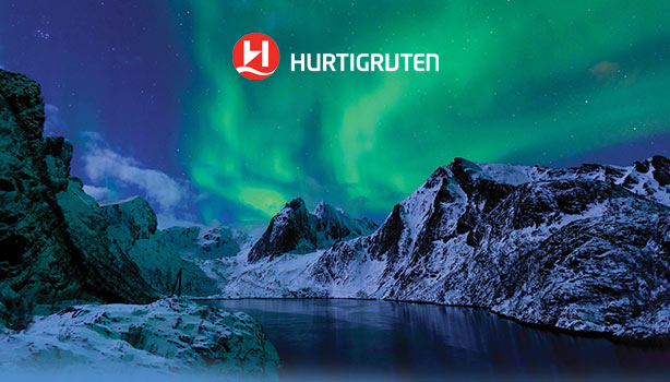 See the Northern Lights off the coast of Norway with Hurtigruten