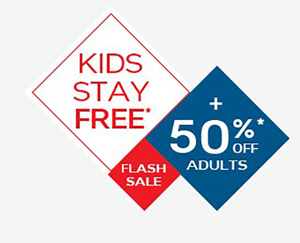 Kids Stay Free + 50% Off Adults