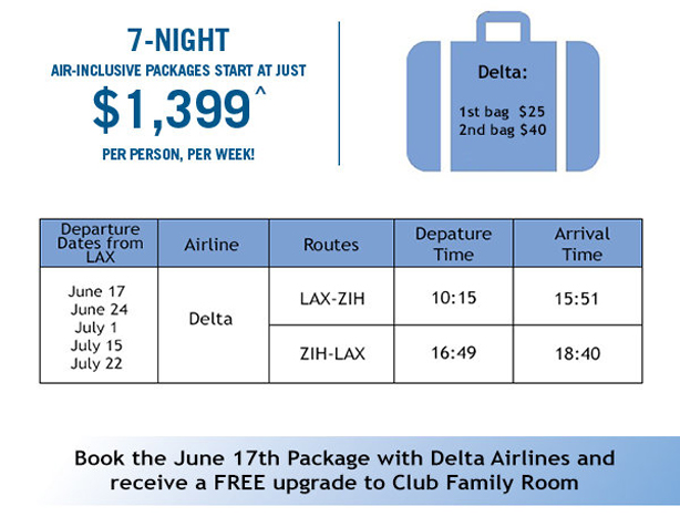 7-Nt Air-Inclusive Packages start at just $1,399 per person!