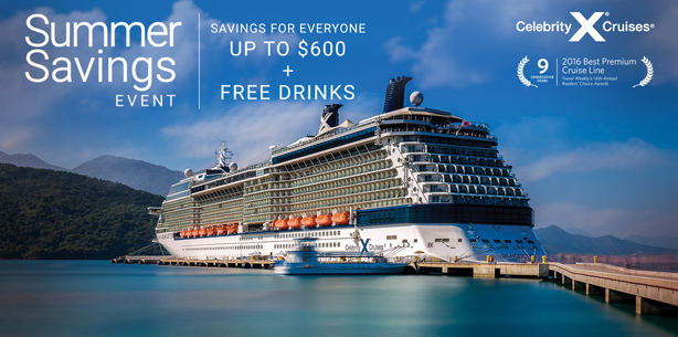 Celebrity Cruises - Summer Savings Event