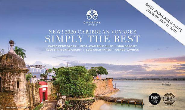 Crystal Cruises - New 2020 Caribbean Voyages
