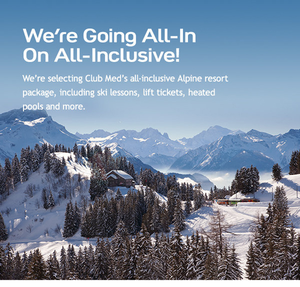 All-Inclusive Package with Ski Lessons, Lift Tickets, Heated Pools & More!