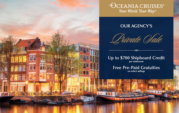 Private Sale! Up to $700 Shipboard Credit + Free Pre-paid Gratuities!