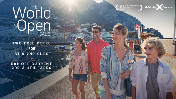 The World is Open Sale - 2 Free Perks for 1st & 2nd Guest!