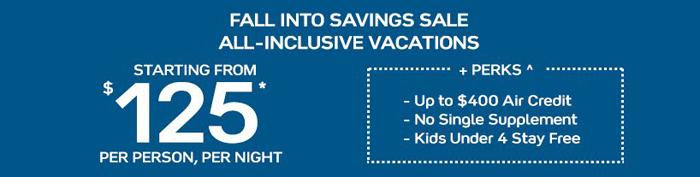 Fall Into Savings Sale