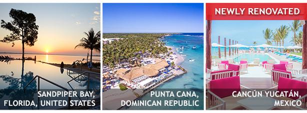 Save at Sandpiper Bay, Punta Cana, or Cancun Yucatan!