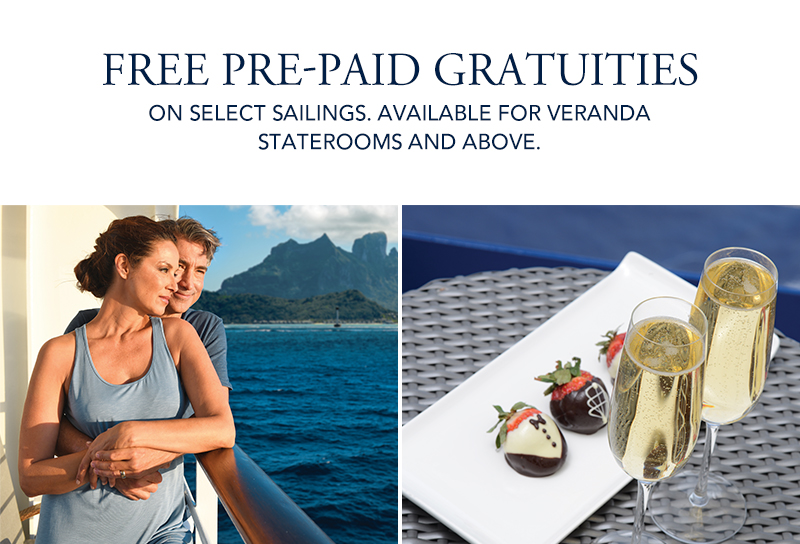 Oceania Cruises - Exclusive Offer: Free Pre-Paid Gratuities