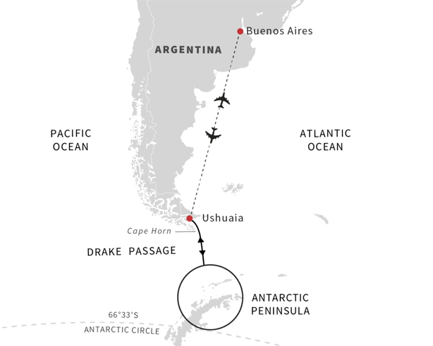 Sail roundtrip Buenos Aires to Antarctica on board MS Midnatsol