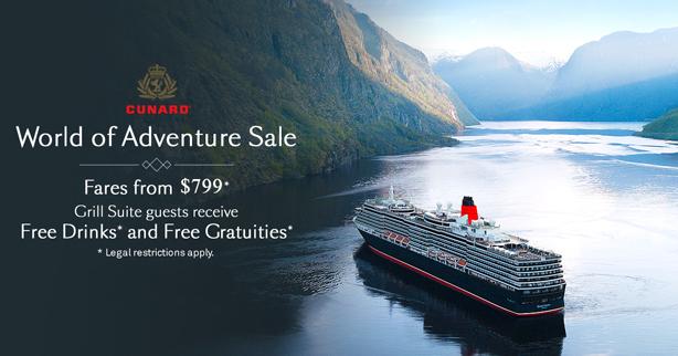 Cunard - World of Adventure Sale