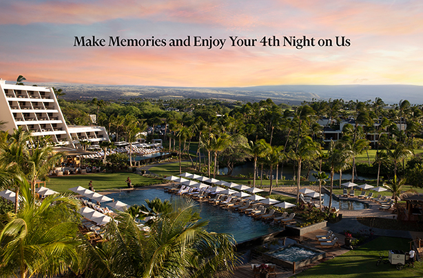 Receive your 4th night free at Mauna Lani