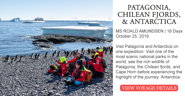 Explore Patagonia, Chilean Fjords, and Antarctica on this Voyage of Discovery!