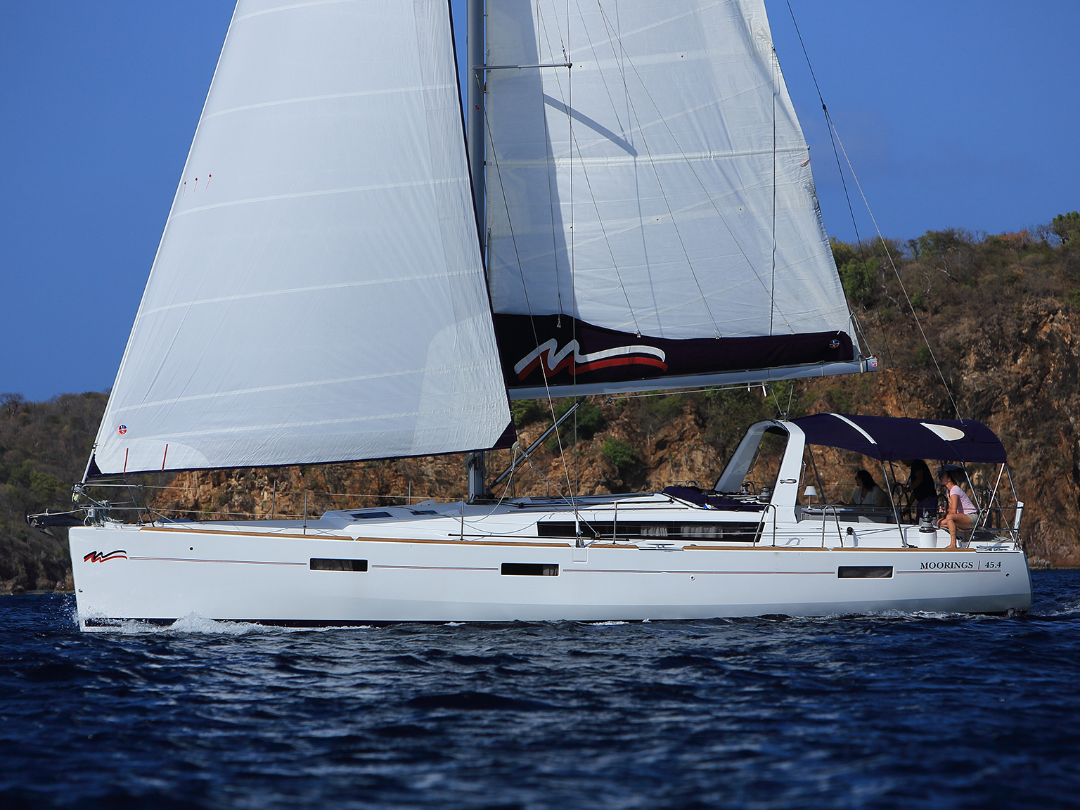 Sailing Monohull: Moorings 45.4 - 4 Cabin Monohull
