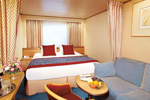 Large Oceanview Stateroom - Obstructed View