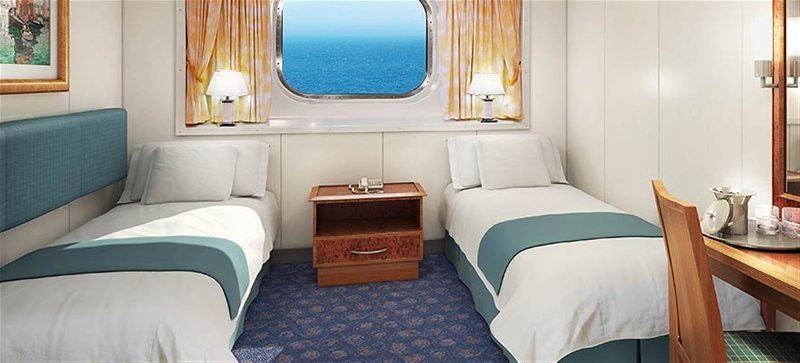 Larger Oceanview Picture Window Stateroom