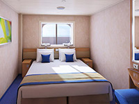 Interior Stateroom With Picture Window Walkway View