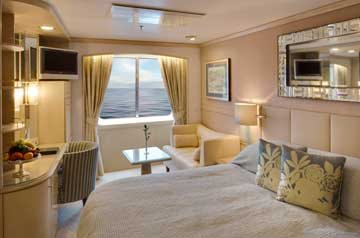Deluxe Stateroom with Large Picture Window - Fully Obstructed View
