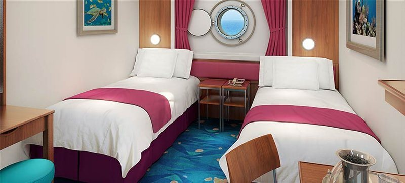 Mid-Ship Oceanview Porthole Window Stateroom