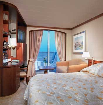 Deluxe Stateroom with Verandah - Slightly Limited View