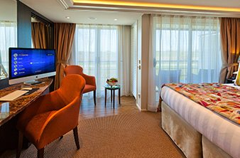 French and Outside Balcony Stateroom