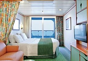 Spacious Ocean View Stateroom with Balcony