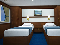 Main Deck Twin Porthole Cabin