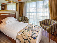 Single River View Stateroom with French Balcony