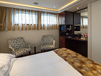 Single River View Stateroom with Fixed Windows