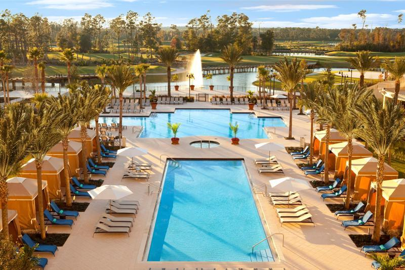 Waldorf Astoria Orlando pools and private cabanas
