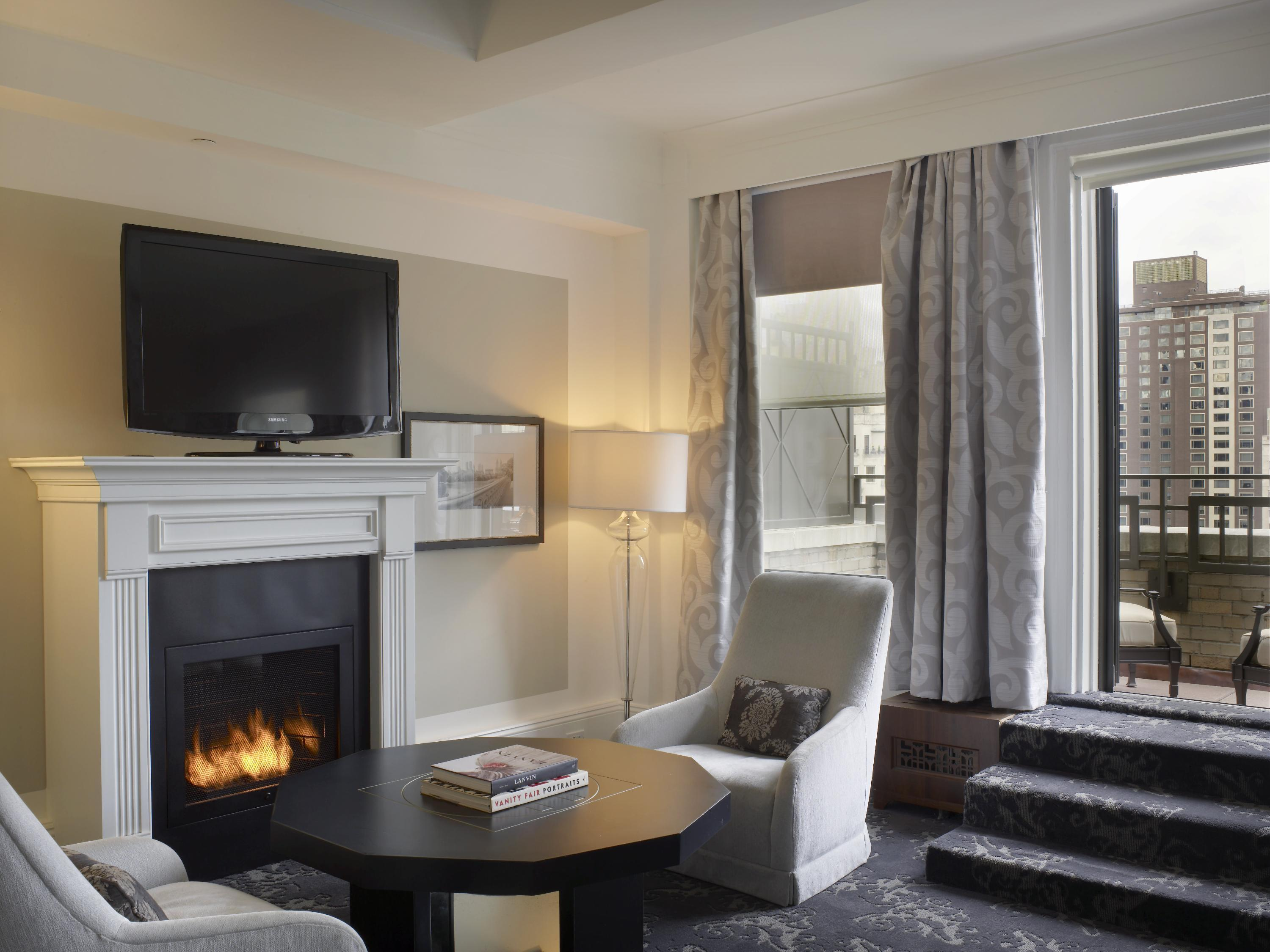 Studio Suite King with Fireplace and Terrace