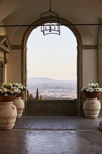 The spectacular view over Florence from the entrance