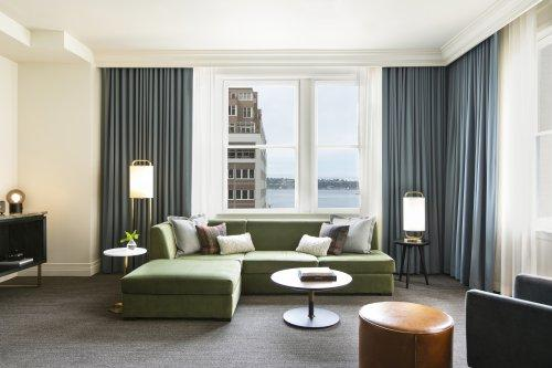 Newly renovated Kimpton Alexis Hotel offers spacious suites and some with views!