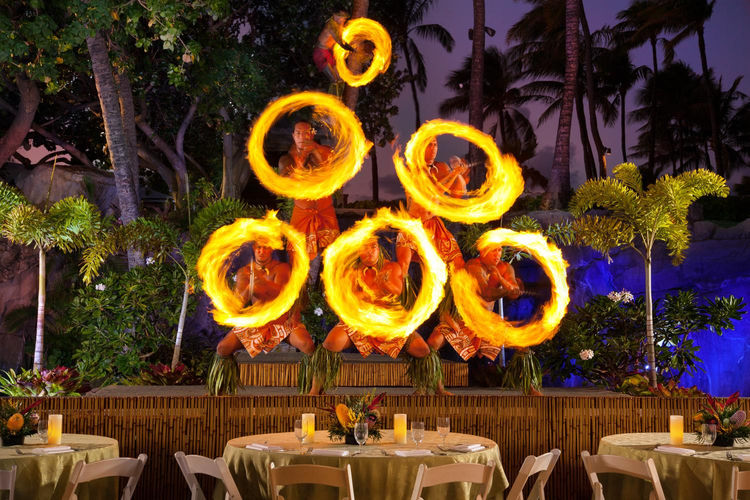Famous Fire Knife Dancers at Westin Maui's Wailele Luau