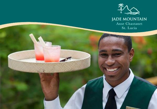 The Major Domos at Jade Mountain provide excellent service around the clock.
