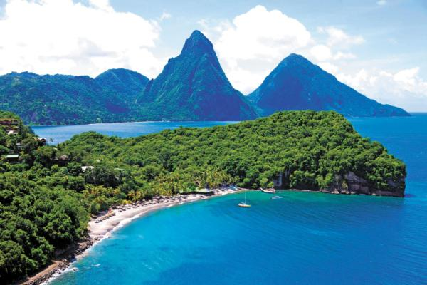 Jade Mountain rises majestically above the 600 acre beachfront estate of sister resort Anse Chastanet.Jade Mountain guests have full privileges at Anse Chastanet.