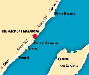 Fairmont Mayakoba Map Location