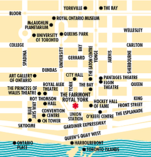Maps & Driving Directions to Fairmont Royal York Downtown Toronto Hotels Map on