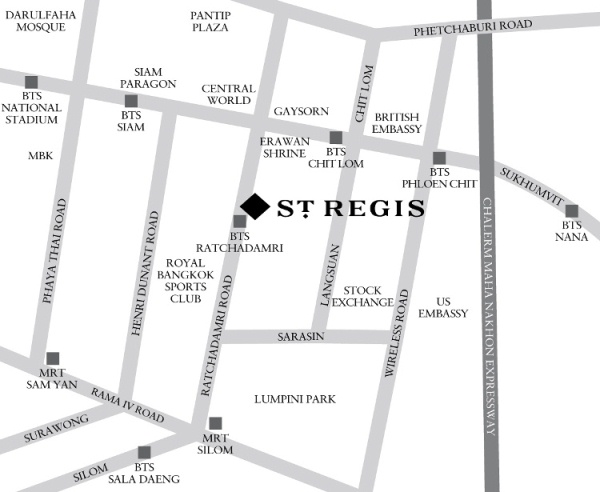 Maps Amp Driving Directions To The St Regis Bangkok