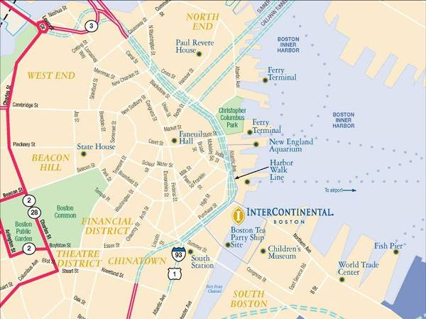 InterContinental Boston  MapLocation