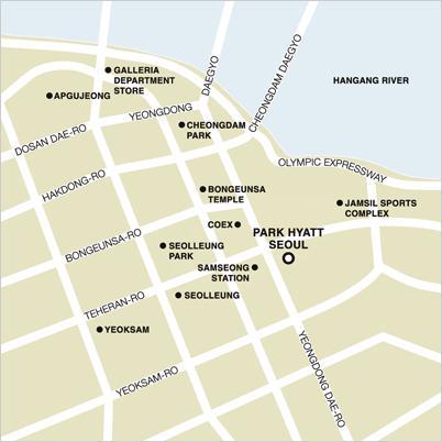 Park Hyatt Seoul MapLocation