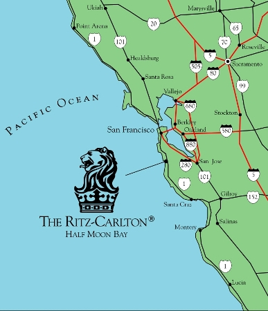Half Moon Bay Map The Ritz Carlton, Half Moon Bay   Map/Location