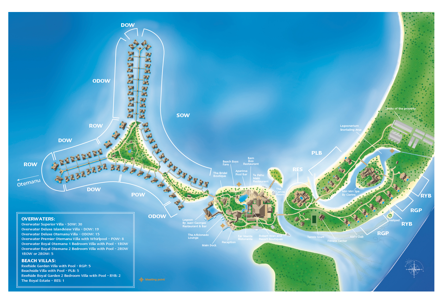 Map Bora Bora The St. Regis Bora Bora Resort   Map/Location Map Bora Bora